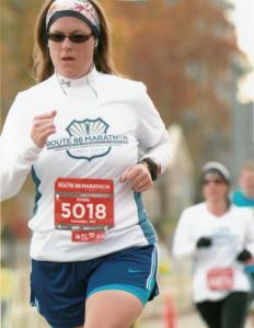 Mid-race, Tulsa Half Marathon,Oct 2012