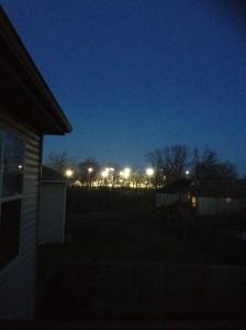 Daniel Boone Little League Field from my Deck