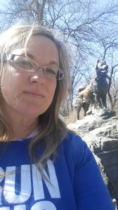 At the Balto Statue in Central Park