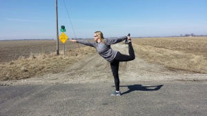 Natarajasana at mile 6.5.