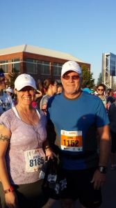 Carl and me at the start line