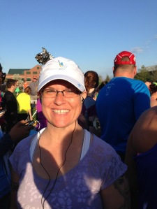 Big smile at the start line - I was excited to run!