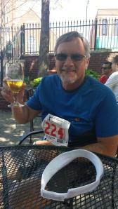 Carl, enjoying a post-race beer.