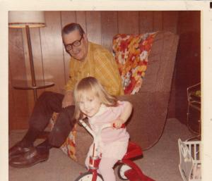 My Grandpa Stiff and me. I find myself channeling his calm and strength more often that I can tell you. He was, by far, the coolest, and he had more of an influence on me than he realized. Or maybe he knew. He was the best.