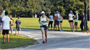 Finishing the Tom Short 5k 8.2.14