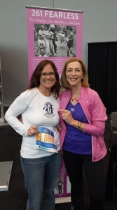 With the great and gracious Kathrine Switzer at the NYC marathon expo.