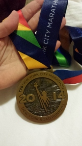 NYC Marathon Bling! The 2014 NYC Marathon was the largest marathon in the world. No, really. With 50,564 finishers, it was the largest marathon EVER.